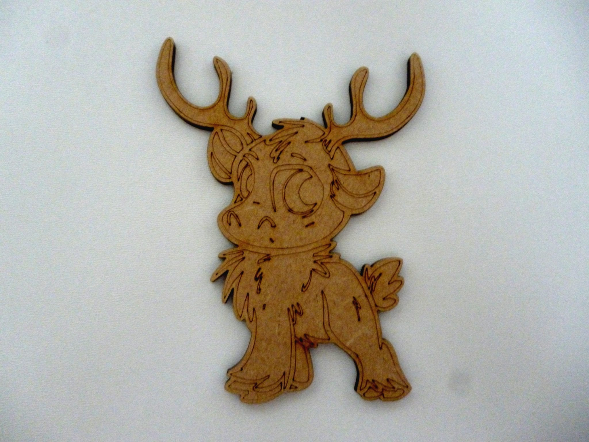 Wooden Reindeer Christmas Baubles Mdf Xmas craft blank tag Decoration CFE195