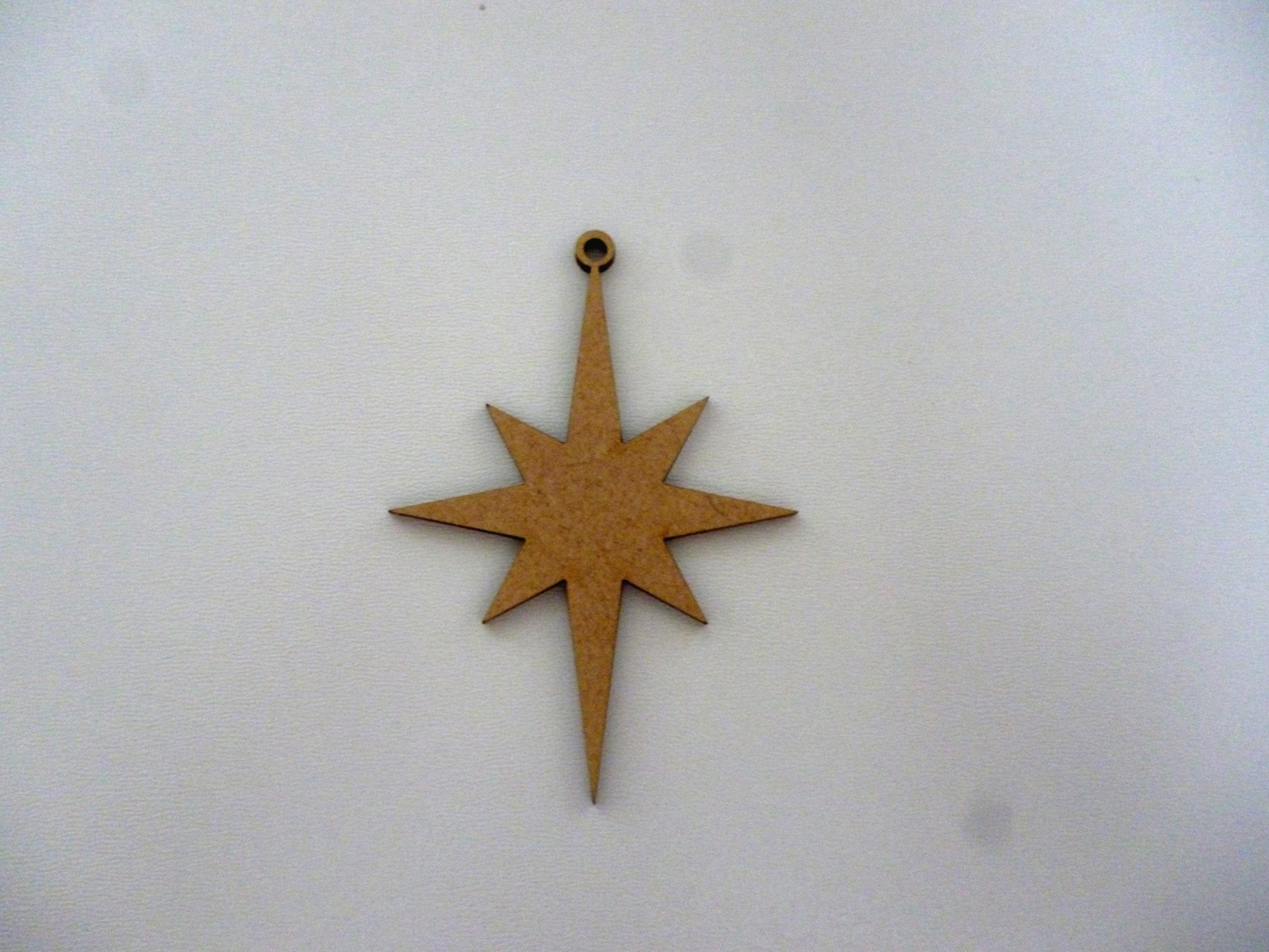 Wooden North Star Christmas Baubles Mdf Xmas craft blank tag ...