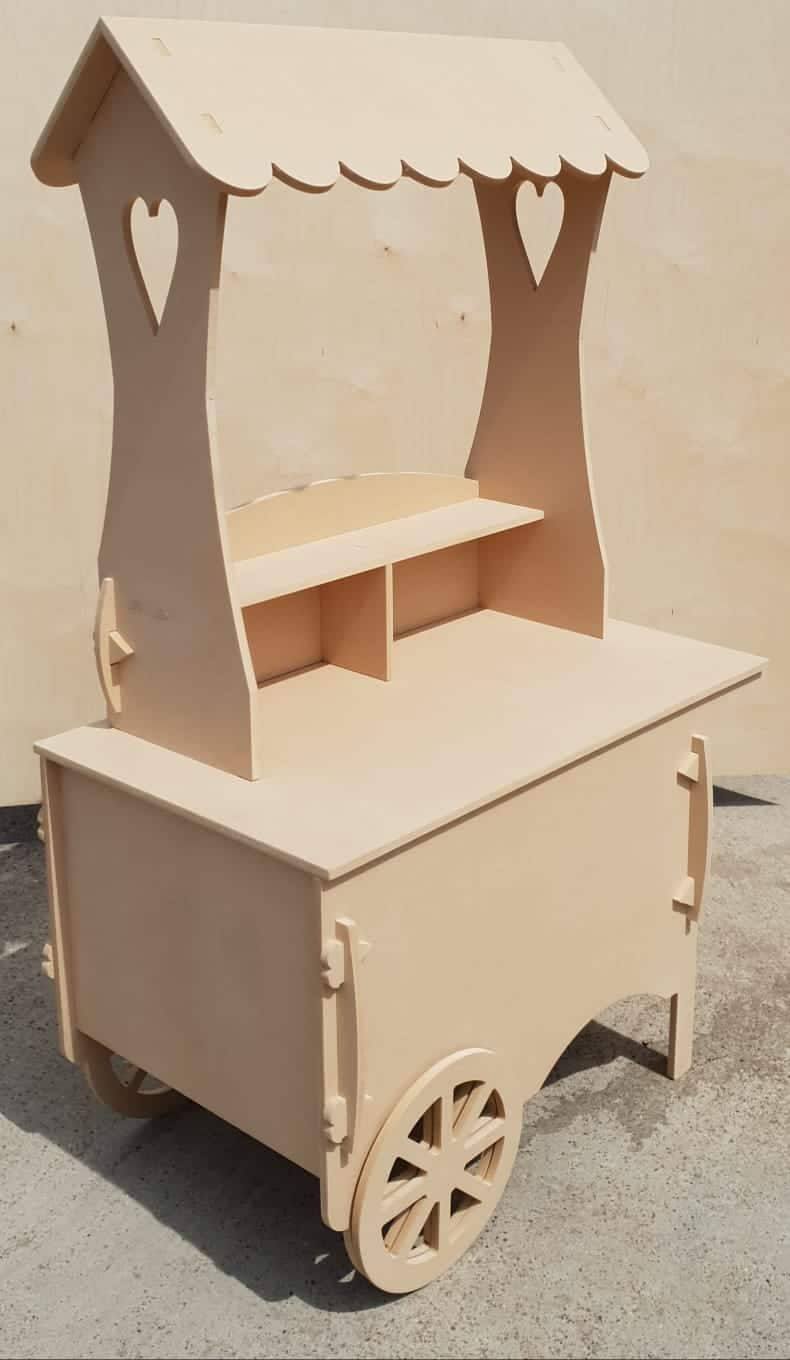 Details About Large Candy Cart Wedding Sweet Cart Kids Party Christening Celebrations Mdf Ww1